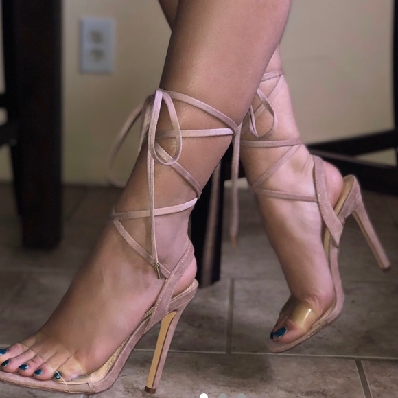 ballet lace up heels